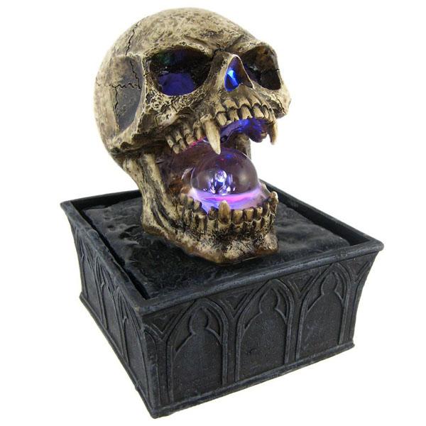 Vampire Skull Tabletop Fountain