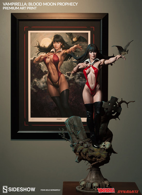 Vampirella Blood Moon Prophecy Premium Art Print and Figure