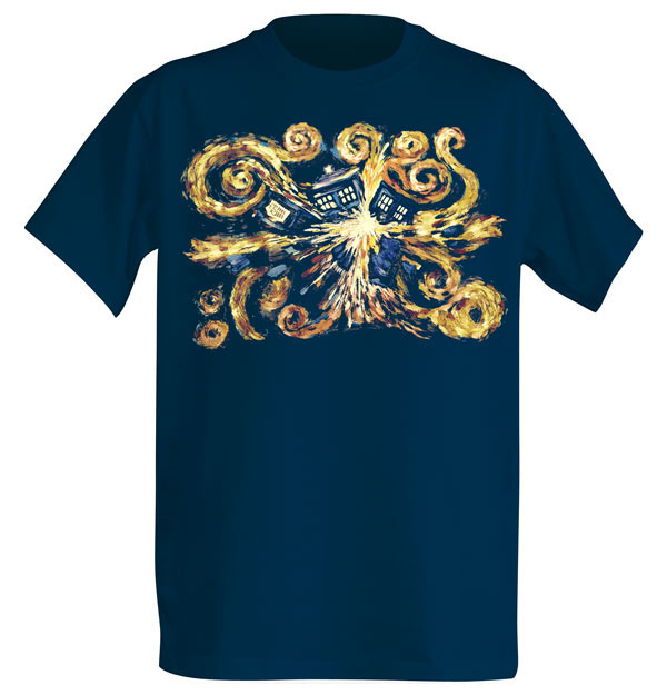 Van Gogh Tardis Shirt