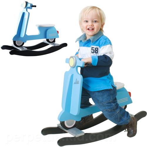 Vespa Scooter Retro Rocker Blue