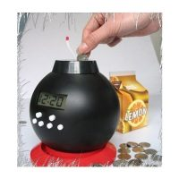 Vibrating Time Bomb Alarm Clock and Bank