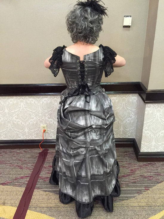 Victorian Doctor Who TARDIS Dress back