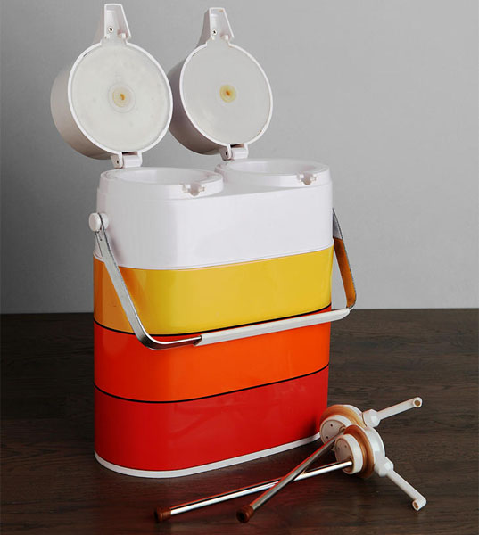 Vintage Double Travel Thermos