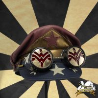 Vintage Wonder Woman Crush Cap with Eagle Emblem Goggles