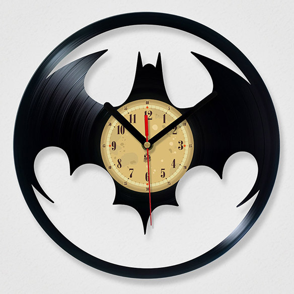 Vinyl Record Batman Clock