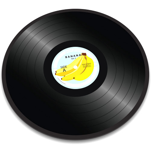 Vinyl Record Glass Chopping Board