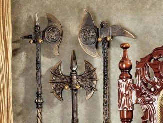 Violet-le-Duc Medieval Knight Cast Iron Battle Axes