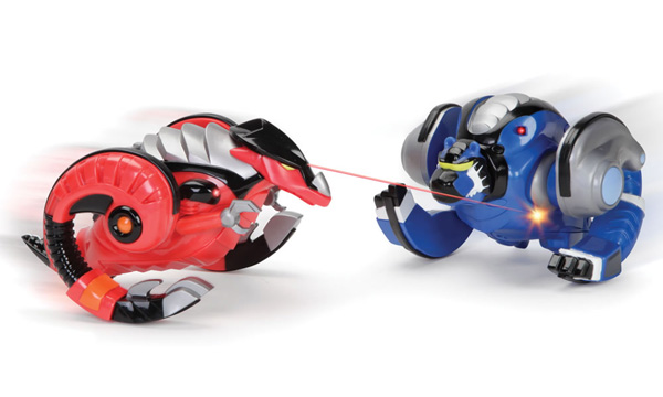 Virtual and Terrestrial Battling Robots