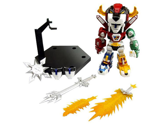 Voltron 30th Anniversary Super Deformed Action Figure with accessories