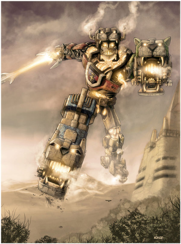 Voltron Steampunk by Lee Kohse Lithograph Art Print