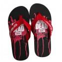 Walking Dead Blood-Splatter Flip Flops