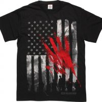 Walking Dead Bloody Hand Flag T-Shirt