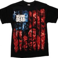 Walking Dead Color Zombies Flag T-Shirt