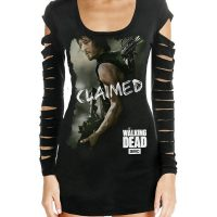 Walking Dead Daryl Claimed Laser Cut Juniors Black Shirt