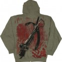 Walking Dead Daryl Costume Hoodie - back