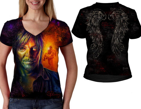 Walking Dead Daryl Dixon V-Neck T-Shirt