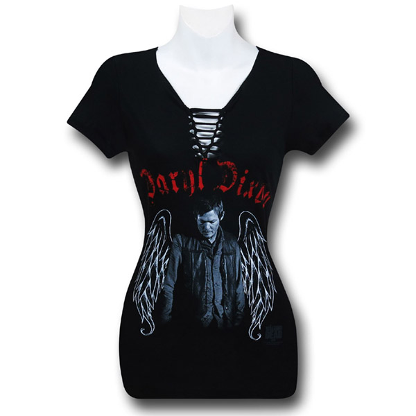Walking Dead Daryl Wings Lace-Up Women's T-Shirt