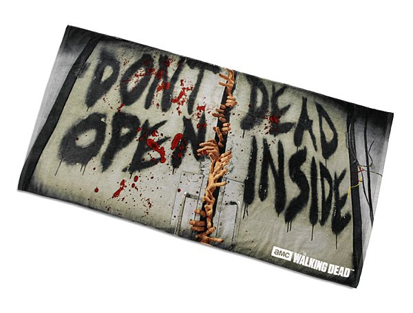 "Walking Dead ""Don't Open Dead inside"" Beach Towel"