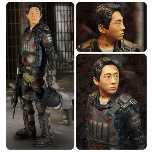 Walking Dead Glenn In Riot Gear 1-4 Scale Statue