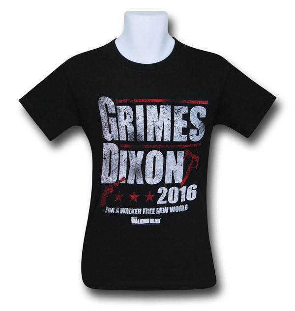 Walking Dead Grimes and Dixon 2016 Mens T-Shirt