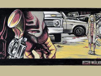 Walking Dead Little Girl Art Print
