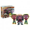 Walking Dead Michonne and Glow-In-Dark Pet Zombies Pop Vinyl Figure