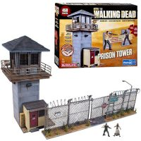 Walking Dead Prison Tower With Gate Building Set