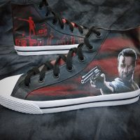 Walking Dead Rick Grimes Graveyard Canvas High-Top Shoes