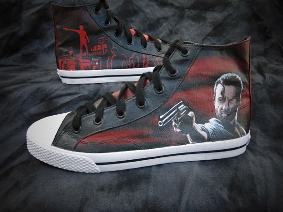 Walking Dead Rick Grimes Graveyard Canvas High-Top Shoes