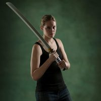 Walking Dead Roleplay Weapon Michonnes Katana with model