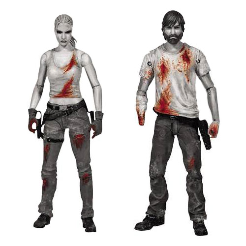 walking dead series 3 rick and andrea action figures