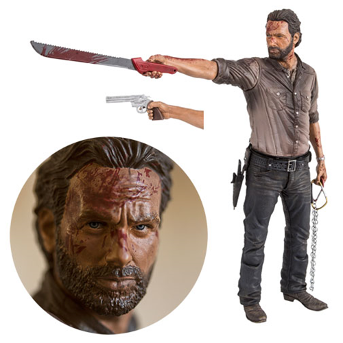 Walking Dead TV Rick Grimes Vigilante Edition 10-Inch Deluxe Action Figure