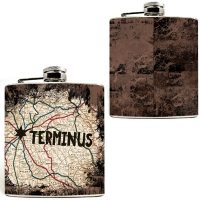 Walking Dead Terminus Map Flask
