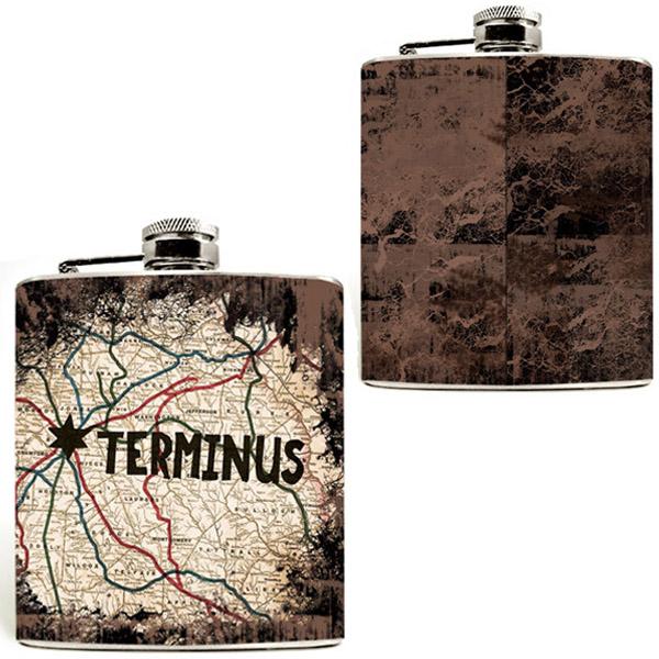 Walking Dead Terminus Map Flask