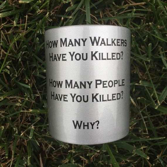 Walking Dead Three Questions Mug