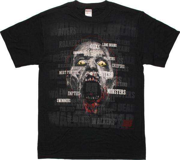 Walking Dead Walker Names T-Shirt