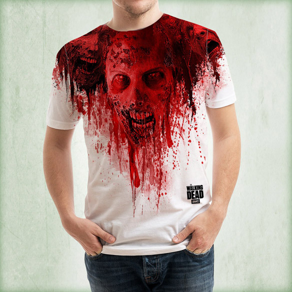 Walking Dead Walkers In Blood Dye Sublimated T-Shirt