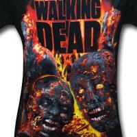 Walking Dead Zombie Conflagration Shirt