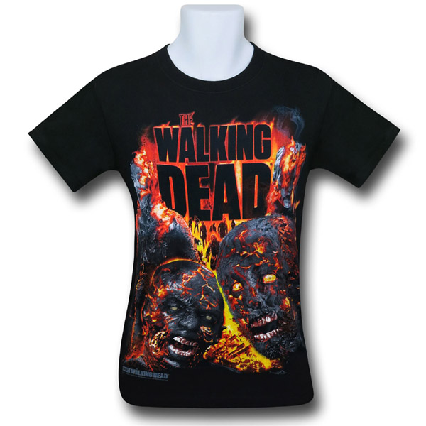 Walking Dead Zombie Conflagration T-Shirt