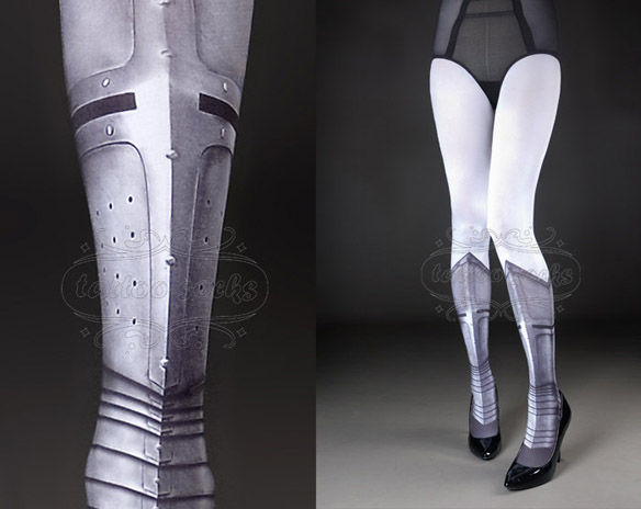 Warrior Princess Tattoo Tights