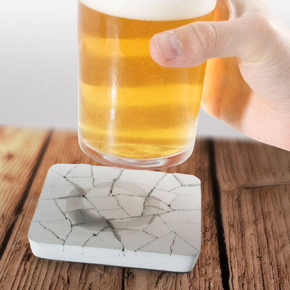 Water Absorbing Concrete Coasters