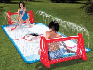 Water Soaked Knee Hockey Rink