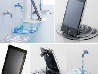 Water Tap Faucet Smartphone Stand