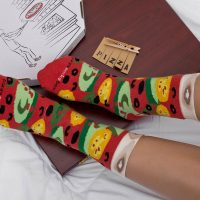Wearing Pizza Socks