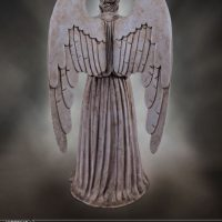 Weeping Angel Limited Edition Polystone Figurine Back