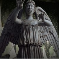 Weeping Angel Limited Edition Polystone Figurine Detail