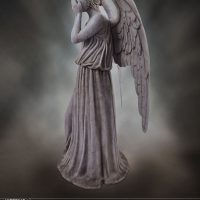 Weeping Angel Limited Edition Polystone Figurine profile 2