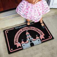 Welcome To Princess Peach Castle Doormat