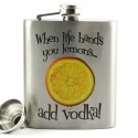 When Life Hands You Lemons...Add Vodka Flask