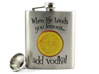 When Life Hands You Lemons...Add Vodka Flask